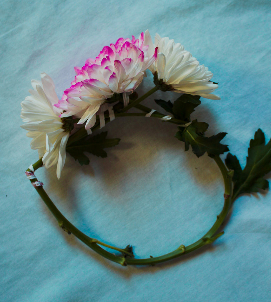 Quick and easy flower crown with real flowers hanna j smith flower crown tutorial how to make a flower crown izmirmasajfo Images
